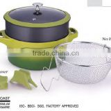 NEW non stick coating glass lid Pasta pot frying pan