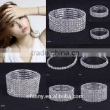 wholesale new luxry crystal row bracelet Stretch smart bracelet 2016 bridal link bracelet jewelry                                                                         Quality Choice