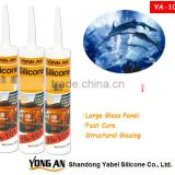 One component Acetoxy Silicone Sealant for Large Glass Panel with factory price , fast cure , RTV silcone sealant,
