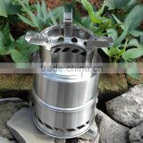 stainless steel wood stove ,Portable camping , wood stove, furnace burn oven outdoor wood stove