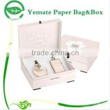 elegant luxury design plain cosmetic perfume cardboard craft packaging display box to decorate with hinged and foam hold insert