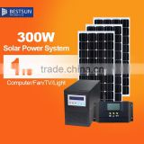 300W Solar Home System For Charge The Battery Supply Electric Solar System, Solar Home Roof