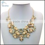 pearl crystal flower necklace