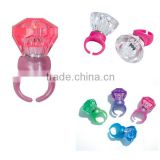 Glow in the dark LED Light Up Cheap finger diamond ring- Assorted Colors
