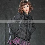 Cotton Black Lace Lolita Blouse 81052