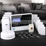 App remote arm home wireless gsm alarm system with doorbell function,easily used and controlled by customers