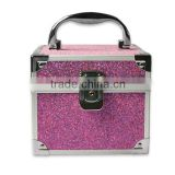 Purple lockable storage aluminum cosmetic make-up case dressing box bag tools box ZYD-HZ214