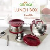Allnice wholesale good quality mini item plastics stainless steel kids tiffin lunch box/food warmer bento box
