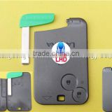 Remote Key case for Renault Laguna Smart Card 2 Button key shell with Insert small key blade