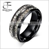 Stainless Steel Jewellery Unisexs' Fashion Rings Inlaid Shining High Quality CZ Cubic Zirconia