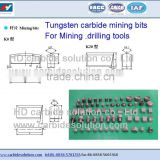 Tungsten carbide mining tips for mining & drilling tools