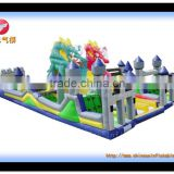 bouncy obstacle castle park, high quality inflatable for kids