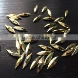 4*15 navette marquise gold metalic point back acrylic jewels rhinestones DIY fashion decoration factory chain supplier