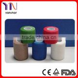 Colorful medical non-woven self-adhesive elastic bandage
