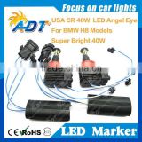 LED angel eyes xenon kit for BMW H8 E87 E82 E90LCI E91 E92 E93 E60 E84 E89 E70 E71 X5 X6