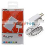 Factory Wholesale Lidu USA Canada Home Charger ,US AC Power Adapter WIth 30Pin USB Cable For iPhone 4 4S iPad iPod