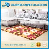 Five figures flower design printed coral velvet carpet with pvc dot slip resistance backing