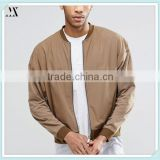 2016 Wholesale Bomber Jacket 100 % Cotton Oversized Lightweight Jersey Bomber Jacket With Woven Fabric
