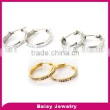 China factory bulk hoop earrings stainless steel jewelry