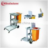 Economy Good Quality Hospital Plastic Laundry Dirty Linen Cart/Hotel Cleaning Equipment