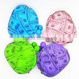 Candy colors silicone cheap coin purse/small coin purse/silicon purses coin