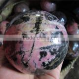 Factory driect healing natural quartz crystal rhodochrosite stone ball