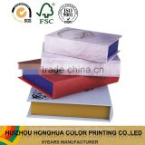 Book shape paper box gift packaging box luxury leather/ PVC book storage box high quality