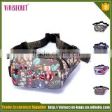 Guangzhou bag factory nylon waterproof waist bag wholesale customize fanny pack