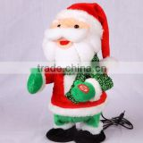 Electronic swing body christmas Santa Claus with MP3 player function stuffed animal plush toy