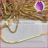 wholesale close Rhinestone gold cup chain for jewelry making