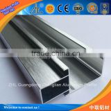 aluminum surface brushing finishing product, aluminium extrusion profile manufacturer, silver brushed aluminum profile