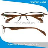 Custom made fancy titanium half optical frame from eyeglass frames manufacturers wholesale