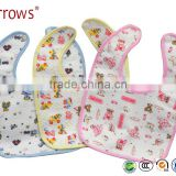 Waterproof Cotton Baby Bibs Plain White Softtextile
