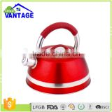 Home appliances suitable for all heater color coating copper tea kettle with infuser kitchenware