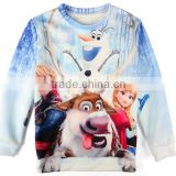 Frozen Elsa Europe and America Hot Selling Long-Sleeved T-shirt Hoodies Frozen Elsa Costume