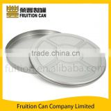 Round Flat CD VCD DVD Tin Case