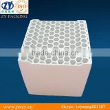 Ceramic honeycomb for water treatment,structured tower packing,with high temperature air combustion technology