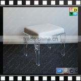 Custom design acrylic chair with cushion top selling clear acrylic resin chair from china manufacturer
