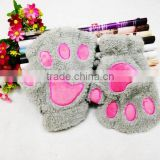 Plush animal hand glove stuffed animal paw glove