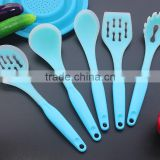 CK-3124 High quality non-stick 6pcs gadget silicone kitchen cooking tools set nylon kitchen utensil set with PP handle