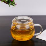 Glass cup kungfu tea cup three part glass cup filter glass cup coffee cup milk cup juice cup for hotel and resturant