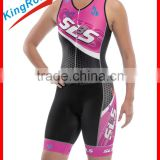 Top selling custom-made Ladies tri kits, Ykk full length hidden zippers, comfortable material for tri suits