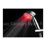 Three Colors LED Rain Shower Head With Hand Spray Water Temperature Detectable