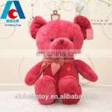 super soft red teddy bear pillow with bowknot
