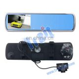 HD 720P Night Vision Recorder Dash Cam 2 Channel Car DVR Rearview Mirror Camera