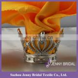 NR136-1 metal napkin holder crown napkin rings for weddings silver