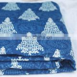 10 Yards Wholesale Lots of Indian Cotton Indigo Print Dabu Fabric