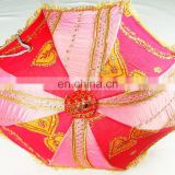 Jaipuri Handmade Tranditional Design Garden Umbrellas Outdoor Patios Hand Embroidery Rajasthani Indian Parasol