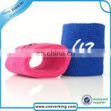 custom cheap cotton embroidery arm sweatband factory wholesale