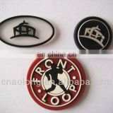 handmade customized embossed soft pvc,rubber main labels for clothing